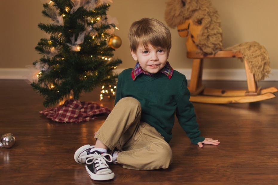 Indianapolis Indiana Child and Family Christmas Photography